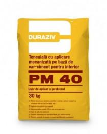 Duraziv PM 40 - Tencuială mecanizată, pe bază de var-ciment, pentru interior 30kg
